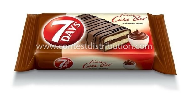 Cake Bar 7 Days Cocoa Glazed 32 g, 16 pcs/disp
