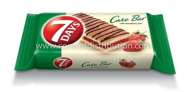 Cake Bar 7 Days  Strawberry Decoration 30 g, 16 pcs/disp