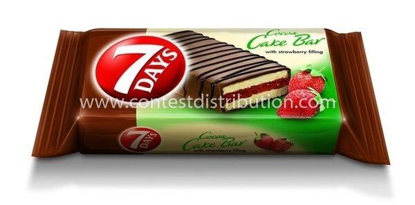 Cake Bar 7 Days Strawberry Glazed 32 g, 16 pcs/disp