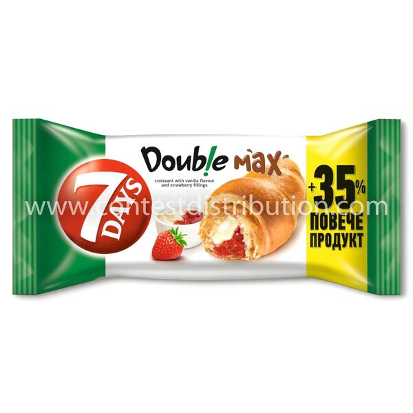 Croissant 7 Days Double Vanilla And Strawberry 80 g + 35% Gratis