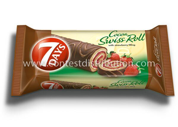 Swiss Roll 7 Days Strawberry Glazed 200 g