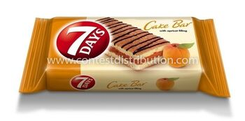 Cake Bar 7 DAYS Apricot Decoration 30 g, 16 pcs/disp