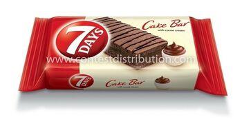 Cake Bar 7 Days Cocoa Decoration 30 g, 16pcs/disp