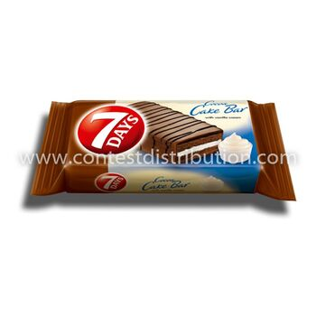 Cake Bar 7 Days Vanilla Glazed 32 g, 16 pcs/disp