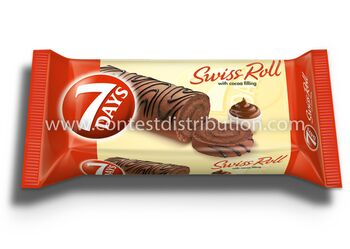 Swiss Roll 7 Days Cocoa Decoration 200 g