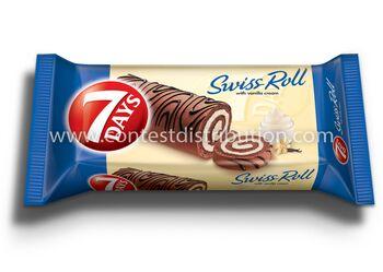 Swiss Roll 7 Days Vanilla Decoration 200 g